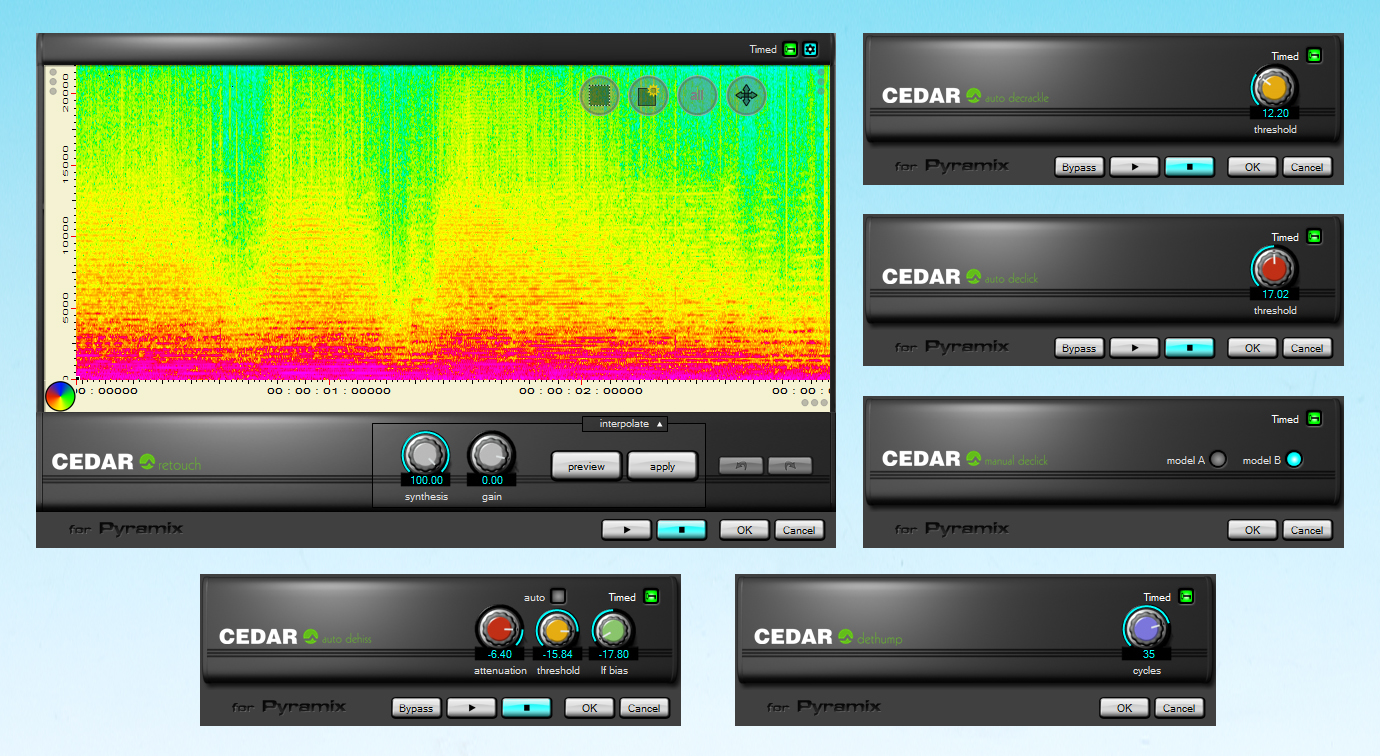 Cedar Audio for Pyramix 64